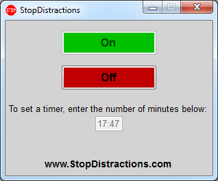 Block Facebook and Twitter with a Countdown Timer with StopDistractions